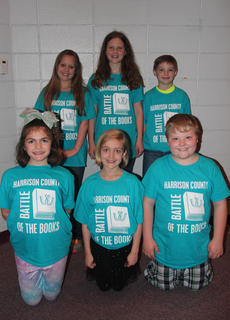 Westside Intermediate students competing in the Battle of the Books were: front row, from left, Mary Canupp, Sophie Bowlin, Ryder Wellman; back row, Emma Withers, Gracie Davis, Titan Mastin.