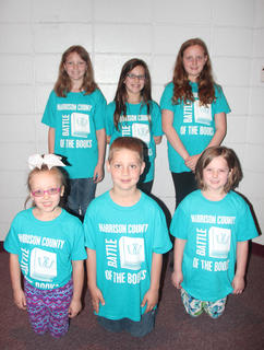 Westside Primary students compaeting in the Battle of the Books were: front row, from left, Hadley Hein, Camden Bowlin, Sallie Kate Dale; back row, Maggie Davis, Cece Boland, Jayden Eckler.