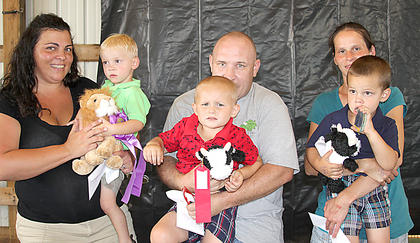 2-3 year old boys Bracken King with mom Leigh Ann Lusby, first; Marshall Bennett with father Michael Bennett, second and Most Photogenic; Conner Harding with mother Shanna Cole, third.