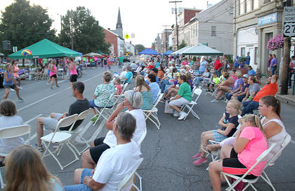 A good crowd was on hand, in spite of the hot, sultry weather.