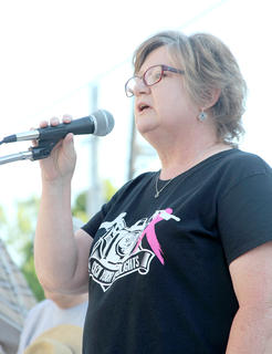 Trudy Rose performed the National Anthem and also gave the keynote address as a cancer survivor.