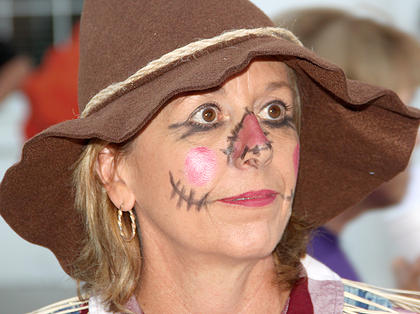 Jo Ann Snapp, one of the HarriCyn Witches, portrayed The Scarecrow in a skit on Saturday night.