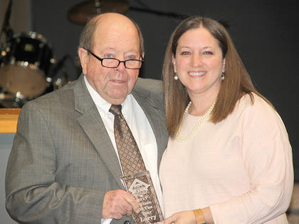 Citizen of the Year, Dr. Larry Bishop, minister at the Cynthiana Christian Church. He was nominated by Jennifer Renaker.