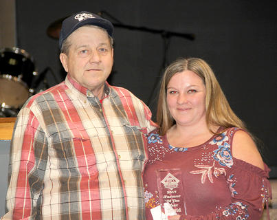 David Wood, Farmer of the Year, was nominated by his daughter, Samantha.