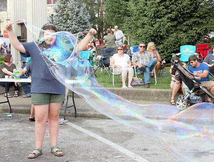 This gal may have created the biggest bubble in Harrison County history.