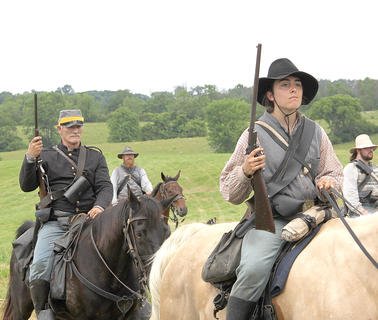 Johnny Reb cavalry prepares to take the field to face off against Billy Yank infantry.