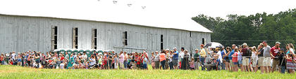 A good crowd was on hand to watch the reenactment at Ashford Acres.