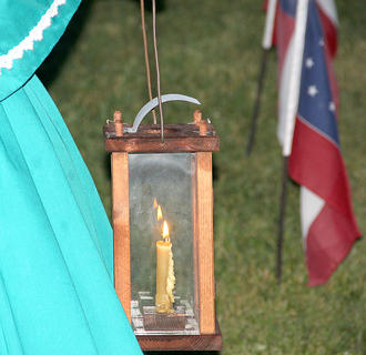 A luminary at the cemetery.