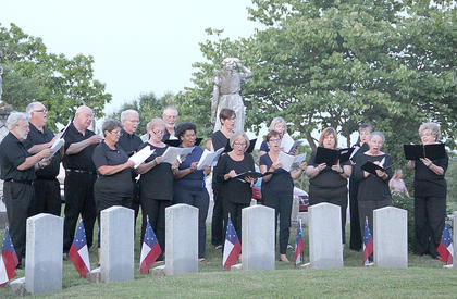 The Licking Valley Singers performed at the Saturday ceremony at Battle Grove Cemetery.