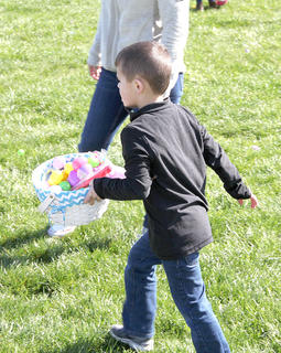 Several hundred children were on hand for the Frankie Taylor Memorial Easter Egg Hunt. Over 10,000 eggs and other goodies were 'hidden' for the children to find. The Rev. Ross Park Committee, the Youth Service Center and the Taylor Family sponsored the event.
