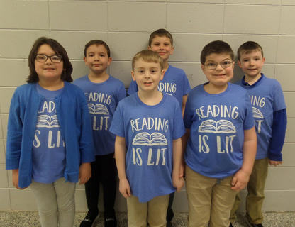 EASTSIDE PRIMARY. Front row, from left, Natalia Cruz, David Hatton, Lance Phillips; back row, Jackson White, Holden Wilson, Isaac Powers.
