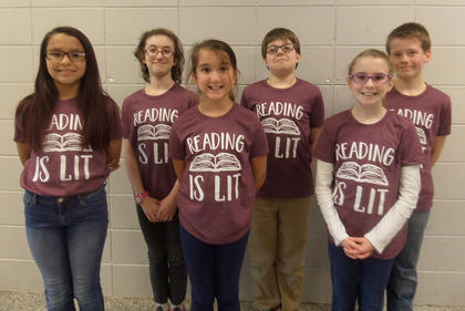NORTHSIDE INTERMEDIATE. From left, Savannah Silcox, Rose Chipman, McKenzie Burden, Ben Lee, Bailey Moses, Leland Rowell.