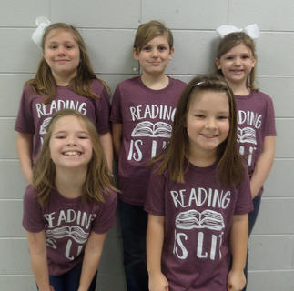 NORTHSIDE PRIMARY. Front row, from left, Paisley Hicks, Serenity Cummins; back row, Gracyn Shields, Levi Fields, Lyla Fields. Absent from photo was Diana Newman.
