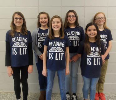 SOUTHSIDE INTERMEDIATE. Front row, from left, Embry Marshall, Sarah Combs, Kaylee Dargavell; back row,Madeline Williams, Elisa Williams, Jack Whalen.