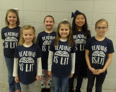 SOUTHSIDE PRIMARY. Front row, from left, Lucy Sorrell, Aubree Taylor, Taylor Florence; back row, Alexis Mattox, Lynnsey Cash, Ally Fenton.