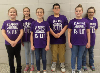 WESTSIDE INTERMEDIATE. From left, Anna Probus, Arwen French, Brinkley Wiggins, Clay Zumwalt, Sallie Kate Dale, Debbi Webb.