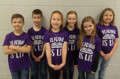 WESTSIDE PRIMARY. From left, Mason Pennington, Jacob Goodpaster, Baily Casewell, Leia French, Holly Simonson, Katlynn Rueger.