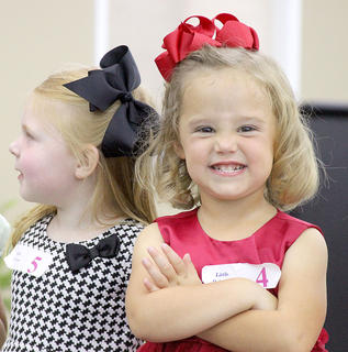 This was just one of many faces of Lena Rains, who was first-runner up in the Little Princess competition.