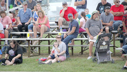 Big crowds always came to the tractor pull venue. There were a variety of tractor, truck and lawn tractor pulls, every night of the fair.