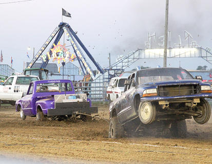 There were plenty of tractor and truck pulls and tugs every night of the fair last week.