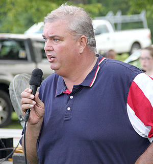 Harrison County Judge Executive Alex Barnett welcomed everyone to the Fabulous Fourth celebration on Saturday.