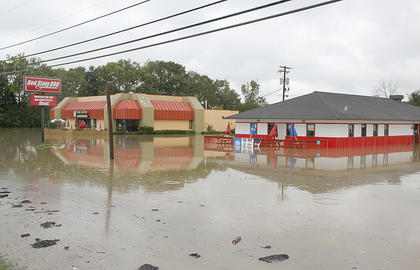 Don Senor's Mexican Restaurant and Red State BBQ both sustained damage during the flood.