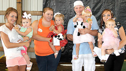 12-24 month girls Ada Layne Allison with her mom Chanda Massie, first; Haylee Hardin with mom Tara Hardin, second; Braelyn LaRae Wiglesworth with her father Nicholas Wiglesworth, third; Aleyah Beagle with mom Dana Beagle, Most Photogenic.