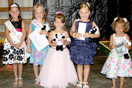 Little miss 2011 winner Carli Withers, 2012 Little Miss Gabby Florence, Desiree Couve, second; Alexis Wright, third; Briana Tucker, Most Photogenic.