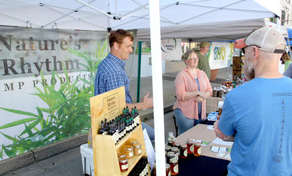 Cynthiana welcomed its first-ever Hemp Days on Saturday, June 9, in downtown. There were vendors for all things hemp. The event was hosted by the Cynthiana-Harrison County  Chamber of Commerce.