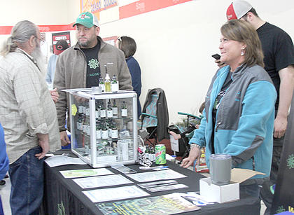 Jason and Ginni Marshall welcomed inquisitive guests to their booth for hemp-based products.