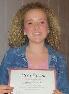 Gracie Furnish received the Hugh O'Brien Youth Scholarship.