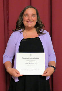 Annie Furnish received the WL Case Award, DAR Good Citizen Award, Kim Niman Scholarship, Theodore Renaker Scholarship.