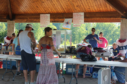 The Cynthiana Rotary Club had plenty to eat and drink and the kids kept occupied with the inflatable slide, jumpy house and obstacle course.