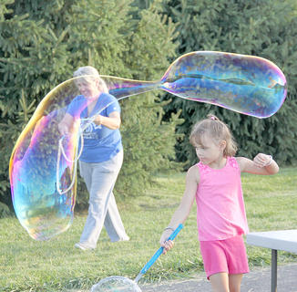 Big bubbles were all the rage at The Longest Day of Play, last Thursday at Flat Run Veterans Park.