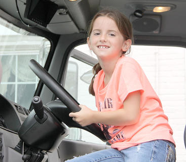 Children of all ages had the opportunity to get into a variety of trucks and tractors to see, up-close, what it was like to sit in the driver's seat.
