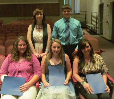 National Society of Arts & Letters. Front row, from left, Lucy Boyers, Abigail Besson, Haley Diamond; back row, Shannon Howard, Nick Slucher.