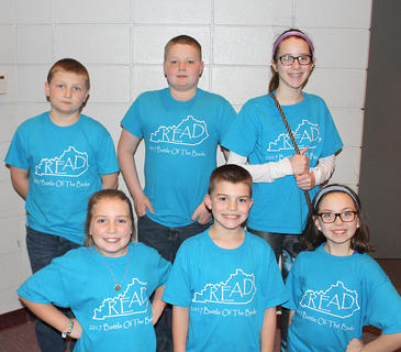 Intermediate Team. Northside Intermediate Battle of the Books team are: front row, from left, Lindsey Bennett, Tanner Tumey, and Riley Grob; back row, Owen Shields, Riley Bihl, and Lily Moses.