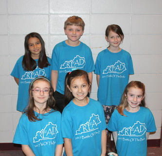 Primary Team. Northside Primary Battle of the Books team are: front row, from left, Rose Chipman, Allie Smith, and Bailey Moses; back row, Savannah Silcox, Dray Roberts, and Elle Wasson-Riickert.