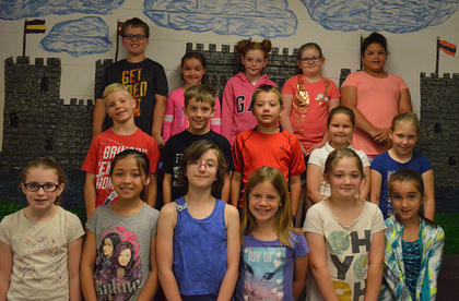 A/B Honor (3rd Grade). Front row, from left, Bailey Moses, Rylee Ballinger, Rose Chipman, Hannah Lamb, Jaycee McElfresh, Makenzie Burden; second row, Ashton Gaunce, Brynndon Anderson, Hayden Hicks, Greenlee Maners, Kendra Pickett; back row, Lucas Aubrey, Bailee Lizer, Lakeliegh Fogle, Madalyn Martin, Carmen Porter.