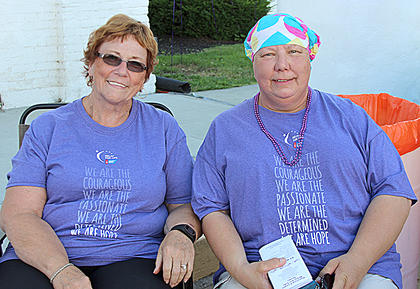Long-time friends and former Girl Scout leaders Patty Hannah and Vickie Cantu are also cancer survivors.