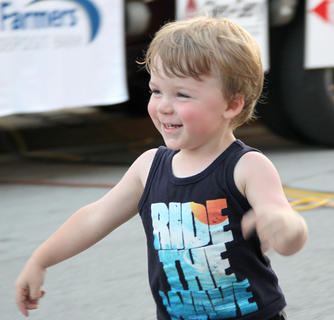 Children always have a great time at the Summer Concert Series. Dancing, running and playing any of a variety of games that are set up for them, the little ones always entertain themselves and are entertaining to those who watch them.