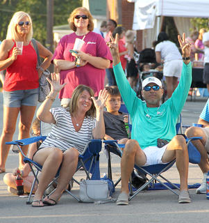 Smiles were all around as young people, of all ages, enjoyed the Summer Concert Series on Friday night.