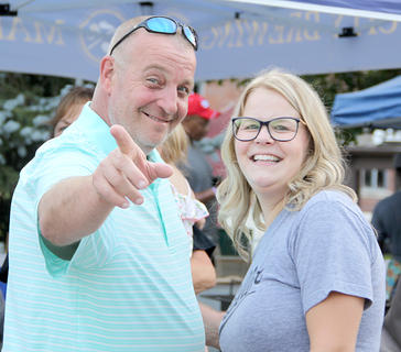 Steve Slade and his daughter, Callie Wachter, enjoyed the evening on Friday night.