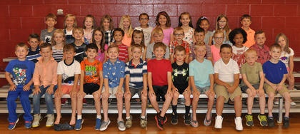 Top Reading and Math Award. Front row, from left, David Watts, Chase Craycraft, Ford Furnish, Rylan Johnson, Ross Brown, Black Garabrandt, Cooper Patterson, John Russ Vaughn, Wyatt Clifford, Jackson Aubrey, Brenden Hollon, Kiptyn Espinola; middle row, Jonathon Fincher, Lillian Hollon, Elliot Smith, Nevaeh-Lee Ward, Treydon Frazier, Aubrey Taylor, Landon Colmire, Garrett Bell, Brock Coy, Taylor Florence, Grace Beil, Lane Smith, Makenna Fuson; back row, Jordon Northcutt, Kate Whalen, Macy CLay, Alexis Mattox, Ariel Hall, Embry Marshall, Elisa Williams, Madeline Williams, Jaicee Hamilton, Lucia Laszio, Lucas Carr.