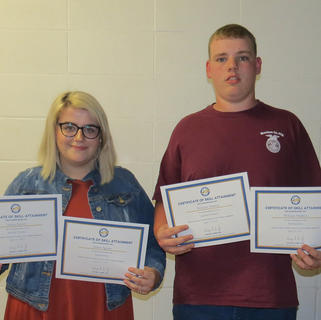 Annie Spicer (Animal Science, and Agribusiness awards), William Mattox (Animal Science, and Horticulture awards).