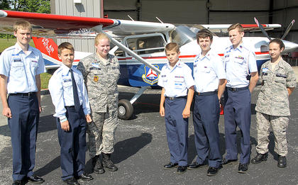 Cadets of the Civil Air Patrol